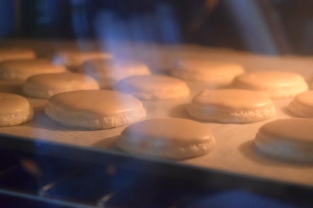 Les coques en cuisson