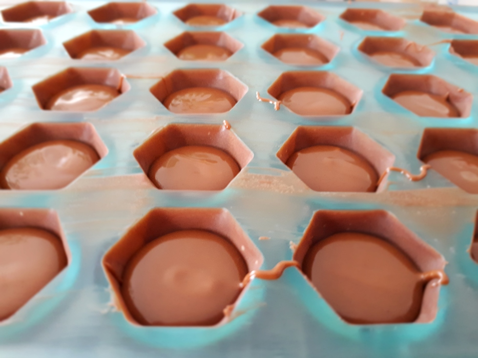 Ganache praliné dans les chocolats