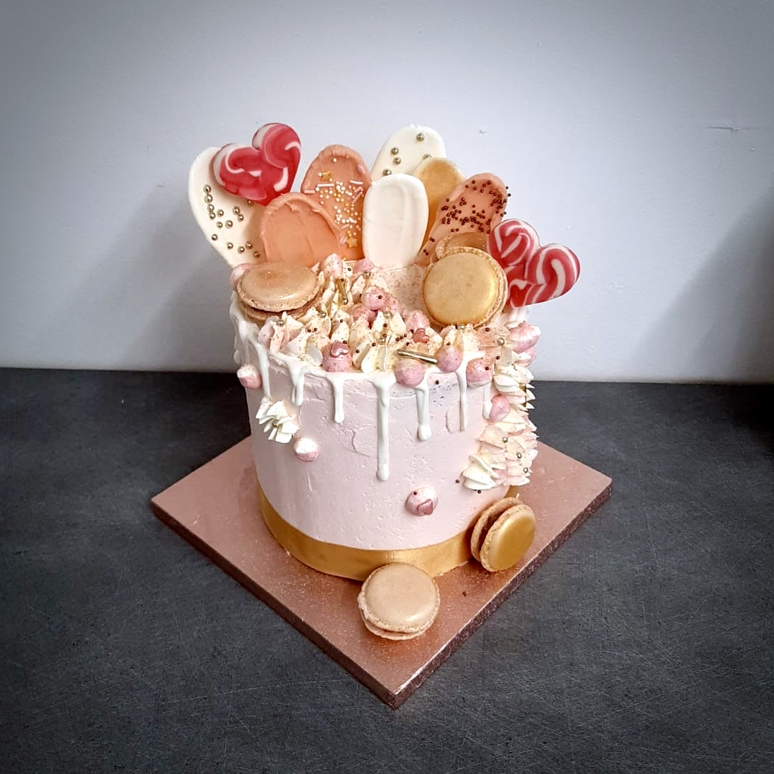 layercake bonbon sucette rose